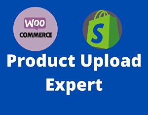 I will be product upload expert in your WooCommerce Shopify store