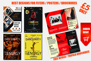I will design beautiful flyer and amazing poster brochure designs