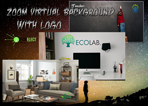 I will design 05 zoom background with logo