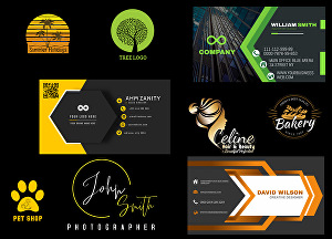 I will design logo business card with qr code