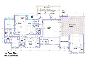 I will Create AutoCAD Floor Plan Working Drawing