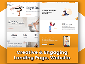 I will design modern, creative & engaging landing page or website