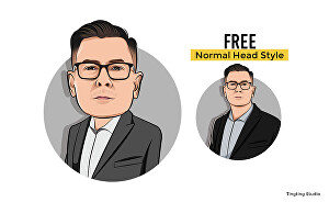 I will draw cartoon caricature avatar from your photo