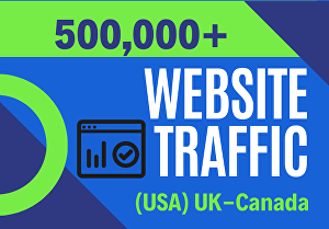 I will drive 500,000 UK,USA targeted website Traffic from Worldwide