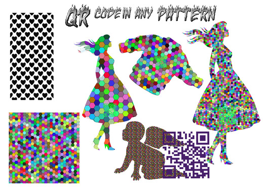 design a creative QR code from shapes or images