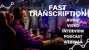 I will do a podcast, youtube, or audio-video transcriptions in 24 hours