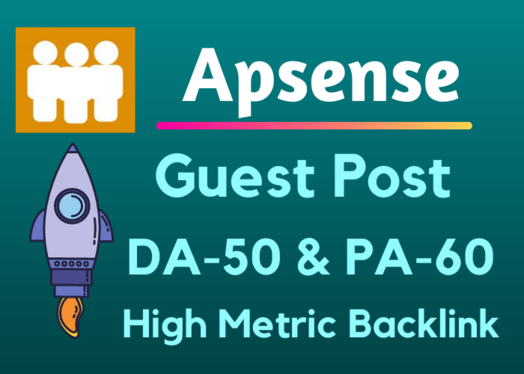 Write and Publish A Guest Post Apsense DA50 With Backlink