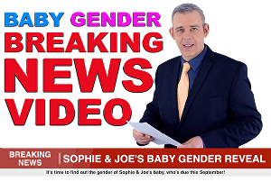 I will make a baby announcement for a baby shower bridal shower in a breaking news video gender r