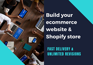 I will build ecommerce website for your business