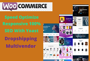 I will create a clean eCommerce website and dropshipping website with woocommerce