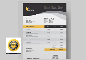 I will design professional  invoice, letterhead, order form and cash receipt within 24 hours