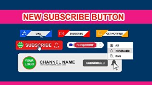 I will create subscribe button and like and bell  button