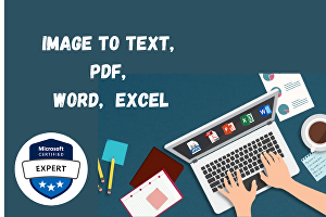 I will convert image to text, pdf, word, excel or powerpoint