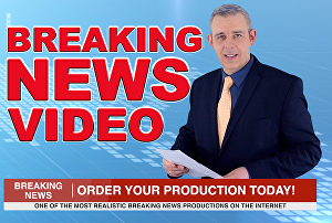 I will be your professional spokesperson in a breaking news video promotion