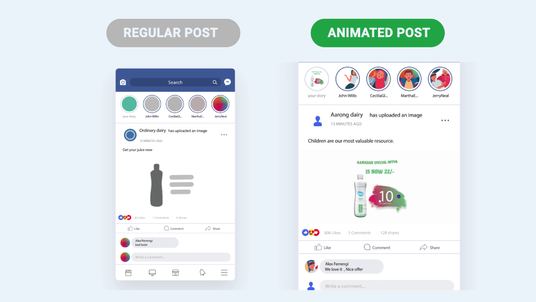 create animated video post for your social media pages or profiles