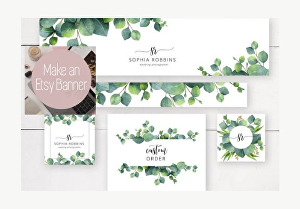 I will design a custom Etsy branding kit,banners,cover photo,shop icon,listings