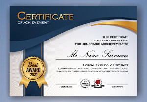 I will design professional, custom certificate