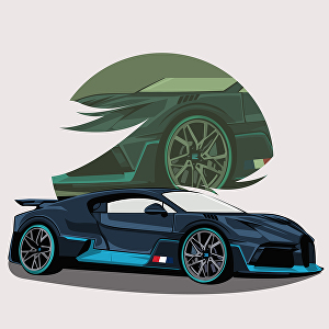 I will draw your favorite car into amazing caricature