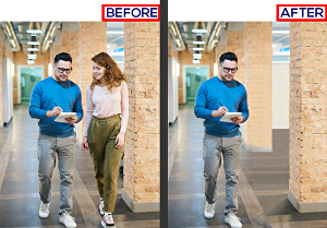 I will Remove Object, Person, People, from a photo in Photoshop