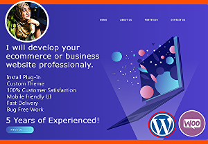 I will develop your ecommerce website professionally