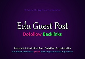 I will write and publish 3X Edu Guest Posts on top 3 universities