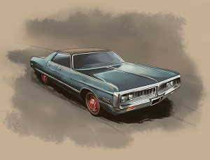 I will Make Awesome Illustration Of Your classic Car