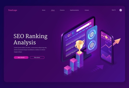 provide an actionable website SEO and competitor analysis report