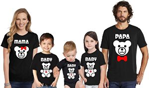I will create 6 family matching t shirt designs