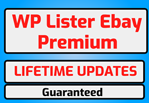 I will provide WP-lister pro for eBay with Lifetime Updates