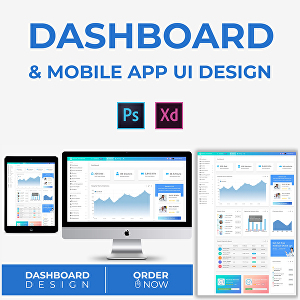 I will do dashboard, mobile app and website UI design within 24 hours