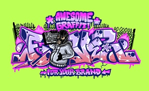 I will make awesome graffiti for your logo, T-shirt, hip-hop album art or your business