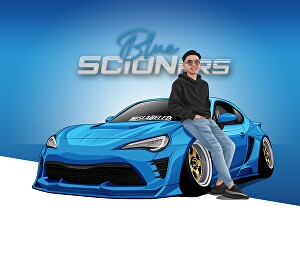 I will Draw vector car and character from photo