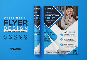I will design professional business flyers posters and brochures