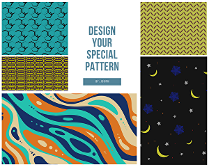 I will design a cool and unique seamless pattern in 24 hours