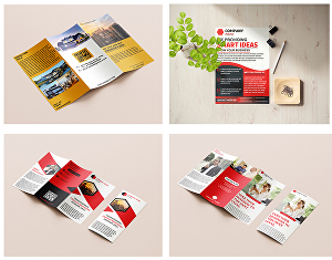 I will do flyer and brochure design in 24 hours