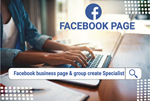 I will create your Facebook business pages and stores, fan pages, and groups