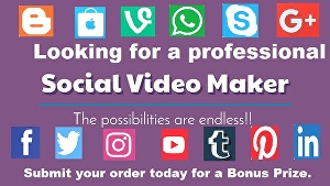 I will create promotional videos for advertising and social media posts.