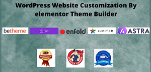 I will design your website by elementor pro page builder in 24 hours