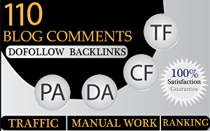 I will Provide 110 Blog Comments High DA PA Low obl