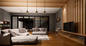 I will create your interior design with realistic rendering