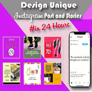 I will design Instagram posts and stories for you