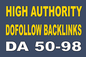 I will Build high Quality 50 Dofollow SEO Backlinks for Website Ranking