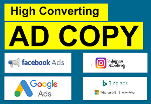 I will write high converting ad copy for google ads and bing ads