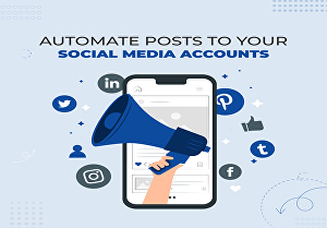 I will automate posts to your social media accounts