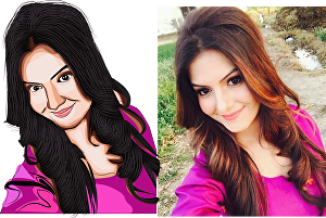 I will create your photo into amazing cartoon portrait