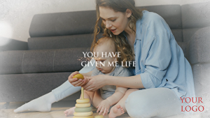 I will create  mothers day video with your logo