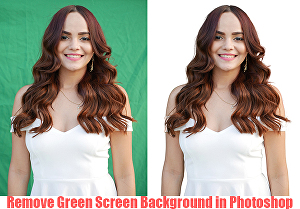I will remove green screen background in photoshop