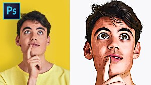 I will draw your pic as a cartoon portrait