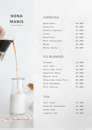 I will Design a minimalistic and modern menu