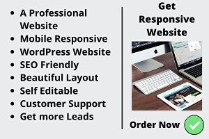 I will design a Professional WordPress Website, Full Responsive and Seo Friendly